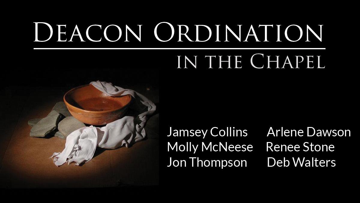 Deacon ordination johns creek baptist church for Ordination images